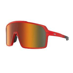Óculos De Sol Hb Grinder Matte Dark Red Orange Chrome