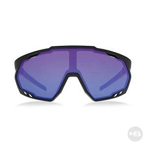 Óculos De Sol Hb Spin Matte Black Lente Azul