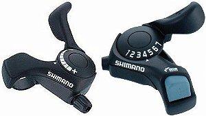 Alavanca de Câmbio (Par) Shimano  MTB SL-TX30 3x7 Preto