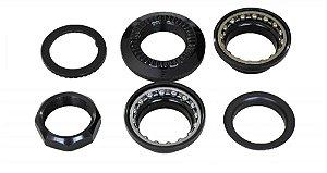 Caixa Movimento De Direção Standard WG Com Rosca 8 peças com trava 22.2mm Preto