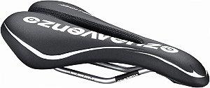 Selim (Banco) Venzo Challenge Vazado trilho com escalas para Bicicletas MTB Speed Preto