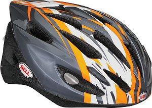 Capacete Bell Solar de Ciclismo MTB e Speed  Lazer Laranja e Cinza