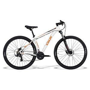 Bicicleta Caloi Explorer 10 MTB 29er Shimano 21Vel Disco Mecanico Branco