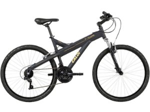 Bicicleta Caloi T-Type MTB 26 Shimano 21Vel Preto