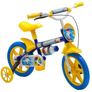 Bicicleta Infantil Nathor Aro 12 Shark Azul