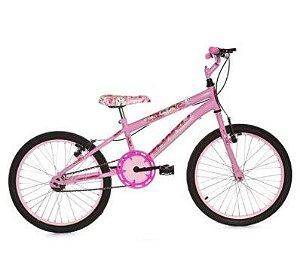 Bicicleta Infantil Rhahu Aro 20 Roda Aluminio Rosa Cat