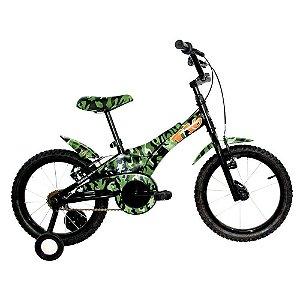 Bicicleta Infantil Tito Aro 16 Roda Aluminio Verde Camuflada
