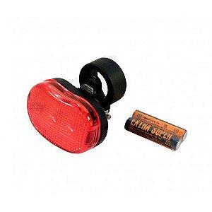 Lanterna Traseira High One 3 Leds Oval Vermelho