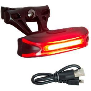 Lanterna Traseira Absolute JY6018T Recarregavel USB Preso no Trilho do Selim (banco)