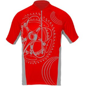 Camisa Curtlo Vintage II MC de Ciclismo Masculino Manga Curta Vermelho