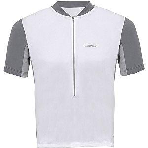 Camisa Curtlo Speed MC de Ciclismo Masculina Manga Curta Branca Tam M