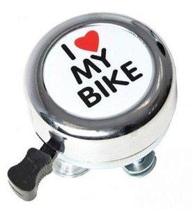 Campainha Sininho I Love Bike Prata