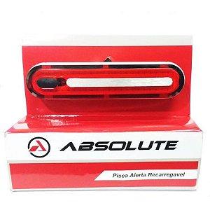 Lanterna Traseira AbsoluteJY-6085T Recarregavel USB Braçadeira de Borracha