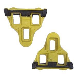 Par de Tacos CA Design para pedal Shimano Speed SPD Clipless de Encaixe Clipless de Encaixe Amarelo 6º