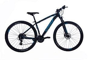 Bicicleta Oggi Big Wheel 7.0 MTB 29er Shimano 24Vel Disco Hidraulico Preto Azul