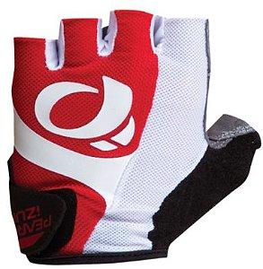 Luva Pearl Izumi Select de Ciclismo Unissex MTB Speed Lazer Dedo Curto Vermelho Branco
