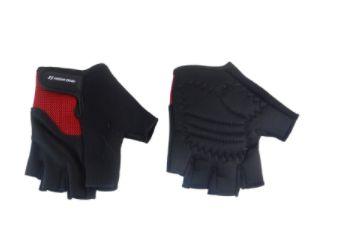 Luva High One Apolo de Ciclismo Unissex MTB Speed Lazer Dedo Curto Preto Vermelho