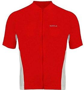 Camisa Curtlo Sprinter MC de Ciclismo Masculina Manga Curta Vermelho