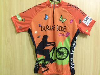 Camisa Duraaf Bike de Ciclismo Feminina Manga Curta Laranja