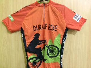 Camisa Duraaf Bike de Ciclismo Masculino Manga Curta Laranja