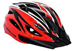 Capacete Absolute de Ciclismo MTB Lazer com luz traseira  Preto Vermelho