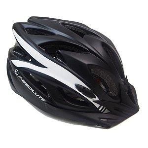 Capacete Absolute de Ciclismo MTB Lazer com luz traseira Preto