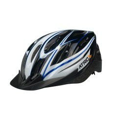 Capacete Atrio OutMode de Ciclismo MTB Lazer Preto Azul Branco