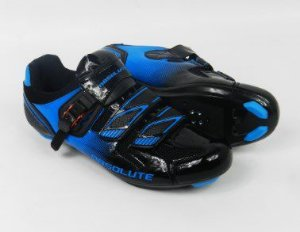 Sapatilha Absolute Wild de Ciclismo Speed Road & Spinning Preto Azul