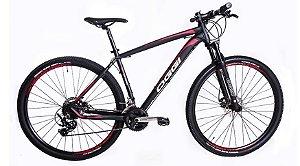 Bicicleta Oggi Big Wheel 7.0 MTB 29er Shimano 24Vel Disco Mecanico Preto vermelho