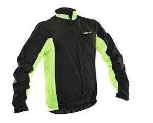 Jaqueta Refactor Esportiva Corta Vento Masculino Preto Verde