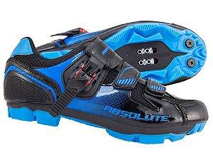Sapatilha Absolute Wild de Ciclismo MTB & Spinning Preto Azul