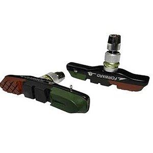 Sapata de Freio Orbital Calypso ZX-9 para V-Brake 72mm 3 Compostos Padrão Shimano de Refil para Bicicletas Urbana e MTB Tricolor