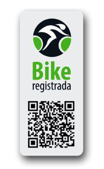 Selo De Segurança Bike Registrada Para Bicicleta