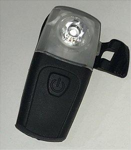 Lanterna Traseira Absolute JY 378TU Recarregavel USB Braçadeira de Borracha Preto