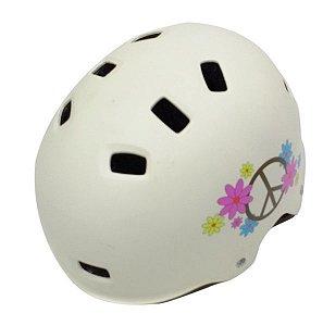 Capacete CycleTrack para Bicicleta Skate Tam S-M (52-58cm) Lazer Branco Paz