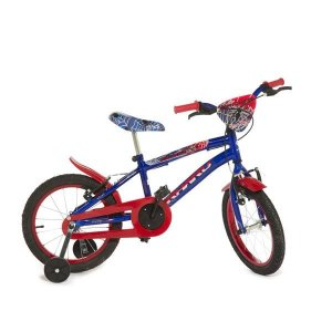 Bicicleta Infantil Rharu Aro 16 Roda Aluminio Azul Vermelho