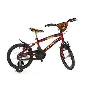 Bicicleta Infantil Rharu Aro 16 Roda Aluminio Vermelho Preto