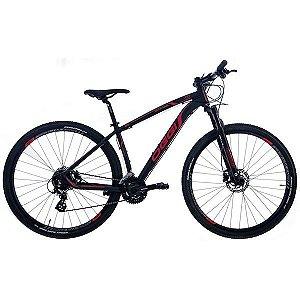 Bicicleta Oggi Big Wheel 7.0 MTB 29er Shimano 24Vel Disco Hidraulico Preto Vermelho