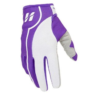 Luva High One Fluid de Ciclismo Unissex MTB Speed Lazer Dedo Longo Lilas Branco