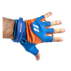 Luva High One Team Dedo Curto Gel Azul Laranja