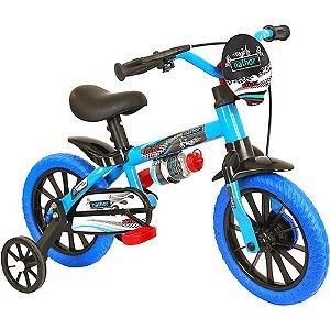 Bicicleta Infantil Nathor Aro 12 Veloz Azul Preto