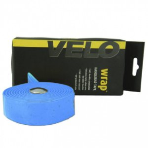 Fita de Guidão Velo Wrap VLT-001SG EVA com Gel Tape Azul Speed Road