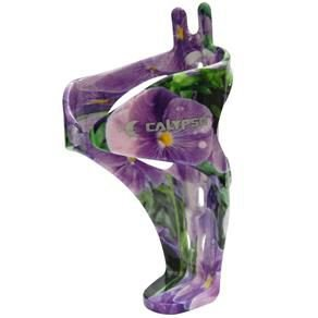 Suporte Caramanhola (Garrafinha) Calypso Policarbonato Grafismo Floral Violeta