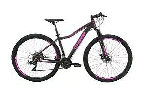 Bicicleta Oggi Float Sport MTB 29er Shimano 21Vel Disco Mecanico Preto Pink