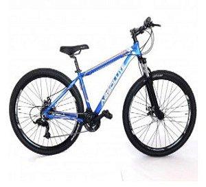 Bicicleta Absolute Nero aro 29 Aluminio Disco 21 Velocidades Yamada Azul Branco Laranja