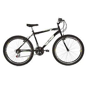 Bicicleta Rharu Combate aro 26  em Aço 18 Velocidades Preta