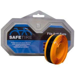 Fita Anti-furo Safe Tire para Bicicletas Speed Aro 700c - 23mm x 2,2mts (Par) Laranja