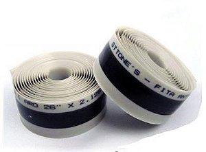 "Fita Anti-furo Sttone's para Bicicletas MTB 29er Aro 29"" - 35mm x 2,3mts (Par) - Cinza"