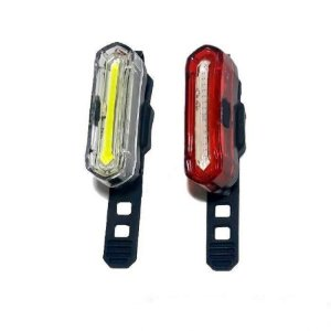 Kit de Iluminação Absolute JY-6055 Recarregavel USB Dianteiro e Traseiro