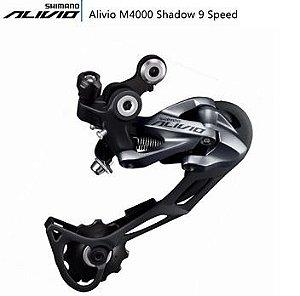 Câmbio Traseiro Shimano Alivio M4000 SGS 9 Velocidades